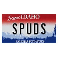 Idaho state license plate